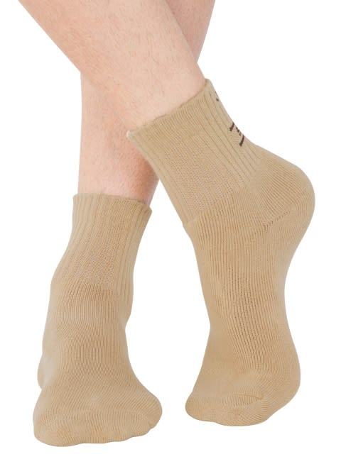 Khaki Men Ankle Socks