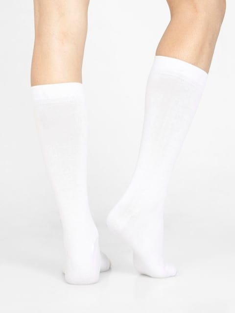 White Men Calf Length Socks