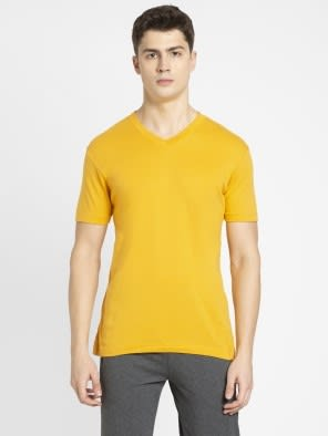 Burnt Gold V-Neck T-shirt