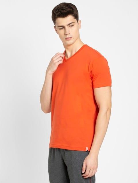 Orange Rust V-Neck T-shirt