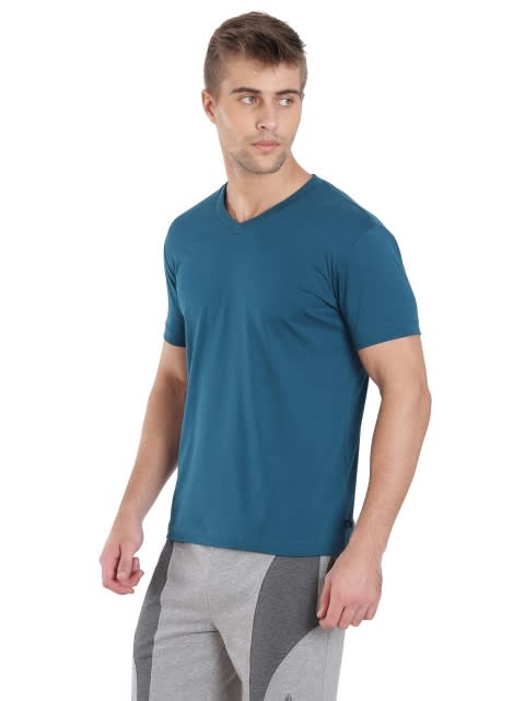 Seaport Teal V-Neck T-shirt