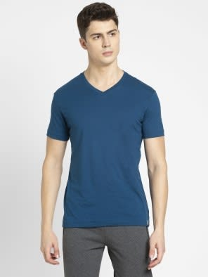 Seaport Teal V-Neck T-shirt