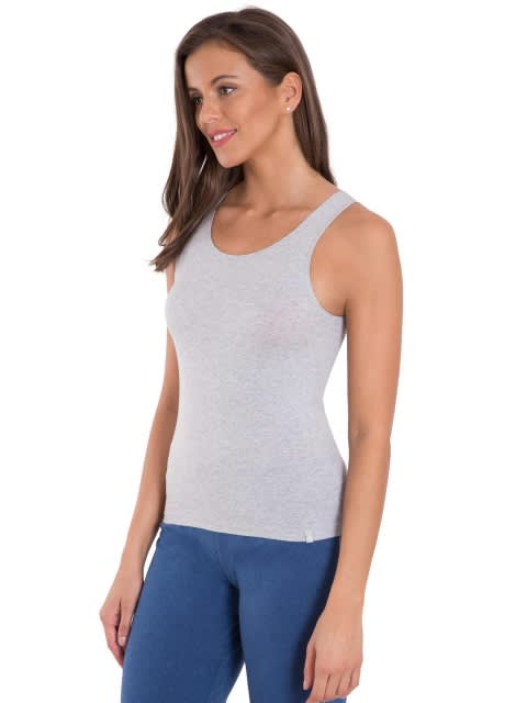 Light Grey Melange Tank Top