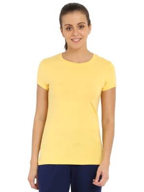 Banana Cream Round Neck T-Shirt