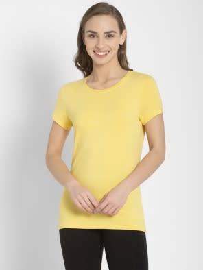 Banana Cream Round Neck T-Shirt