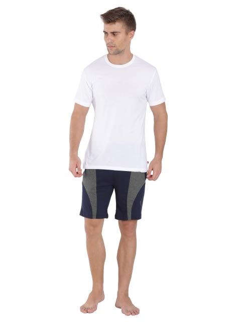 Navy & Charcoal Melange Knit Sport Shorts