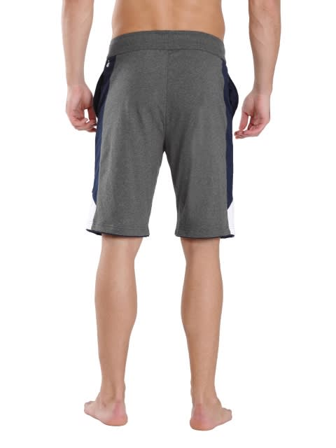 Charcoal Melange & Navy Active Shorts