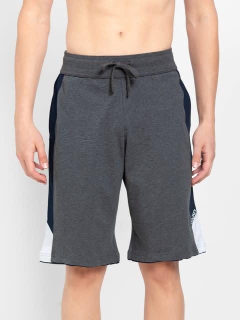 Charcoal Melange & Navy Active Shorts