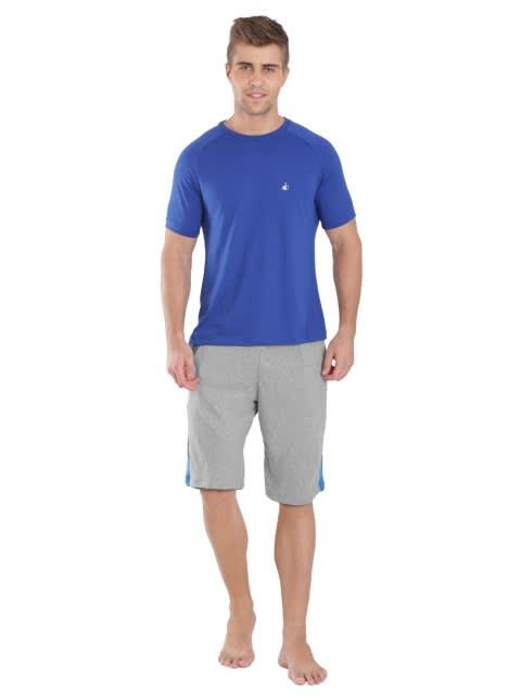 Grey Melange & Charcoal Active Shorts