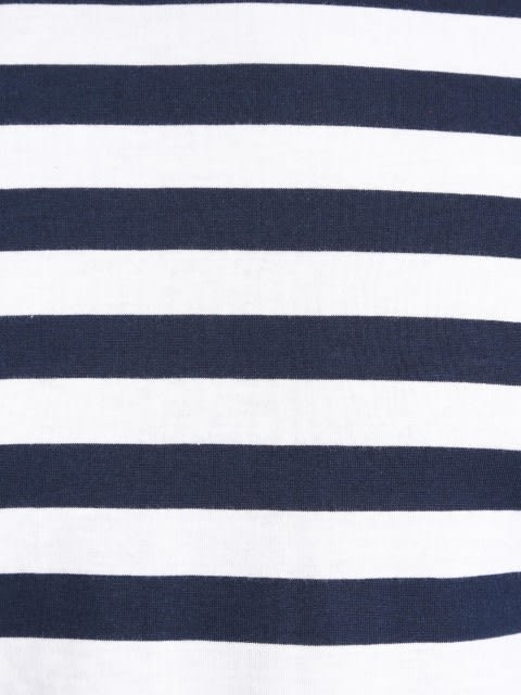 Navy & White Crew neck T-shirt