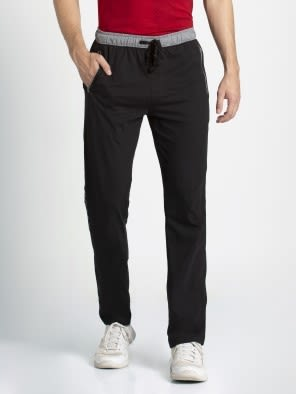 Black & Grey Melange Sports Track Pant