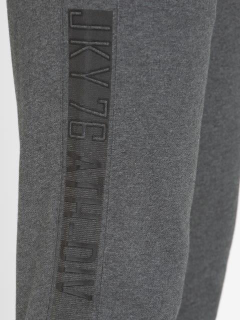 Charcoal Melange & Black Sports Track Pant