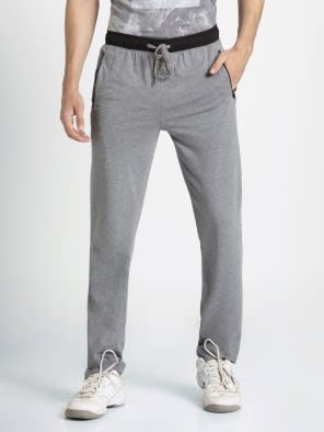Grey Melange & Black Sports Track Pant