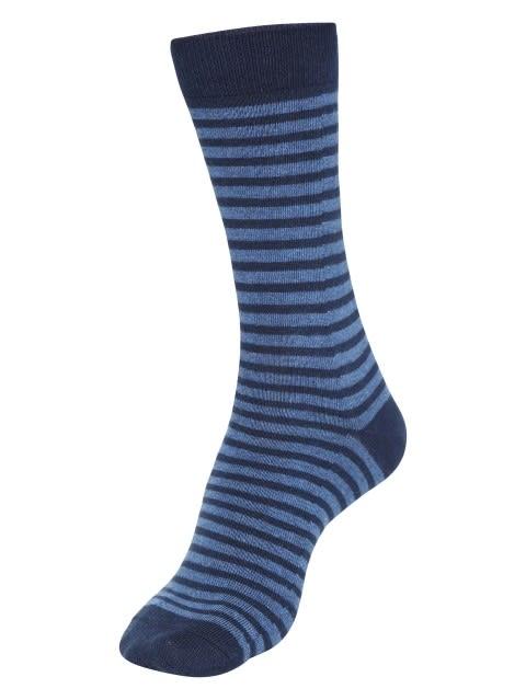 Navy Melange Crew Socks