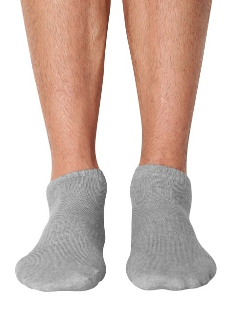Grey Melange Crew Socks