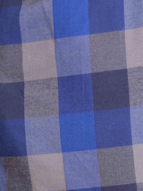 Cobalt Blue & Checks Woven Bermuda