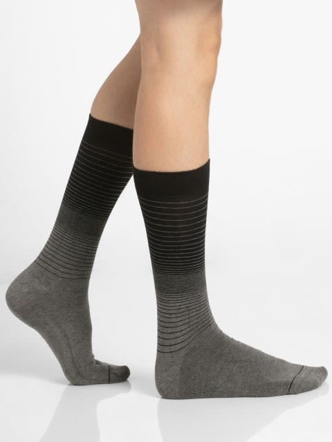 Charcoal Melange Men Formal Socks