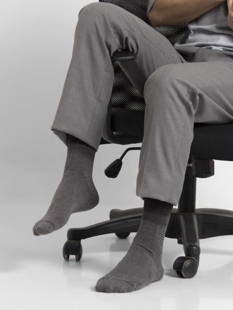 Charcoal Melange Men Formal Socks