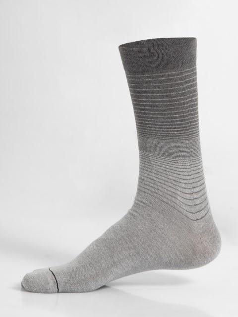 Grey Melange Men Formal Socks