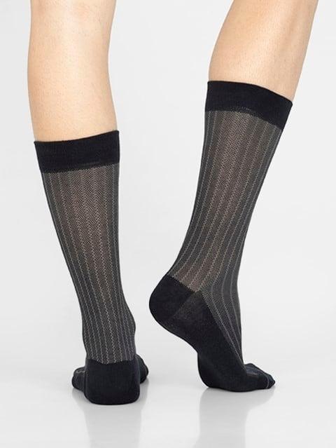 Navy Men Calf Length Socks
