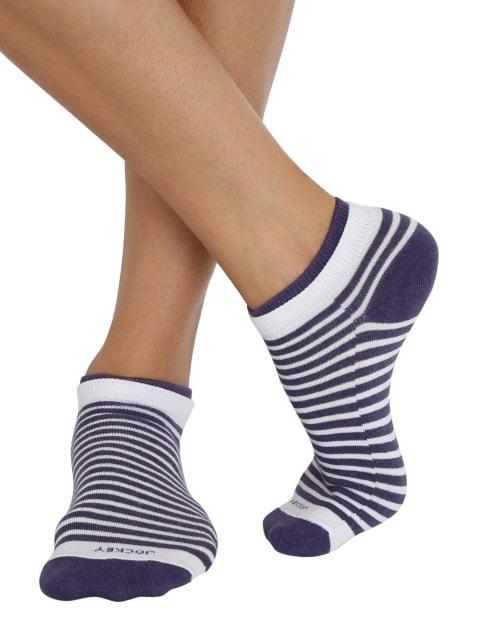 White & Heather Melange Women Low show socks Pack of 2