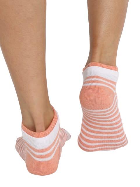 White & Honeysuckle Melange Women Low show socks Pack of 2