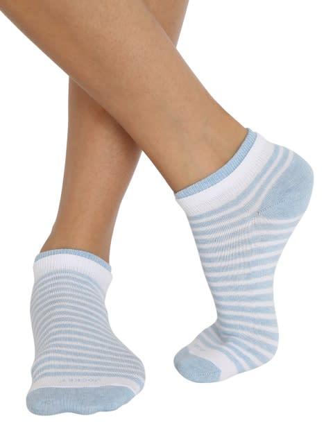 White & Sky Melange Women Low show socks Pack of 2
