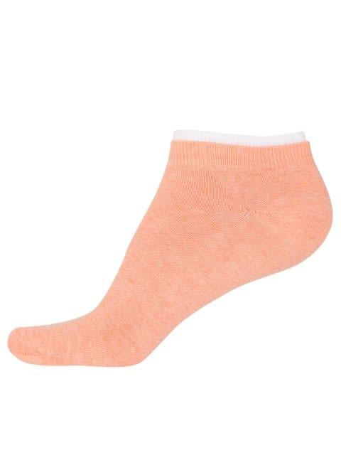 Pink Sorbet & Honey Suckle Melange Women Low ankle socks Pack of 2
