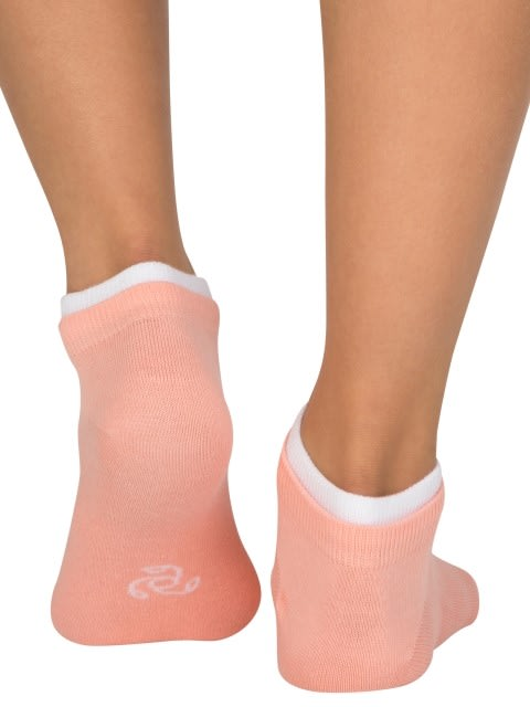 Blue Radience & Apricot Blush Women Low ankle socks Pack of 2