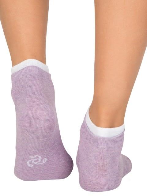 Raspberry Melange & Lilac Melange Women Low ankle socks Pack of 2