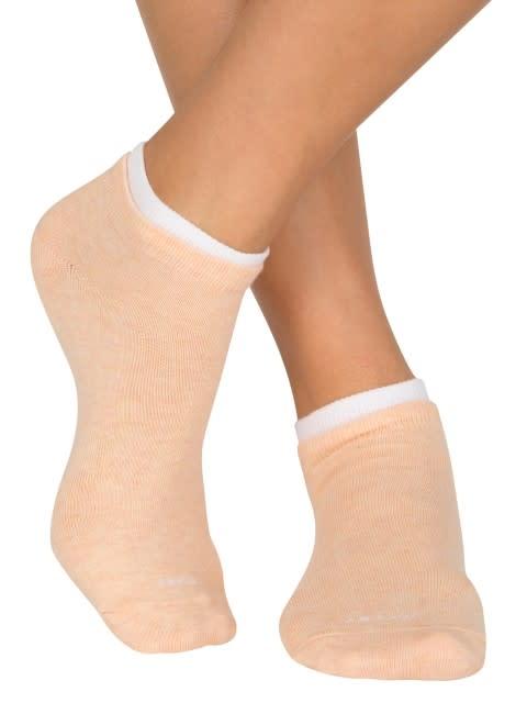 Mint Sorbet & Peach Sorbet Melange Women Low ankle socks Pack of 2