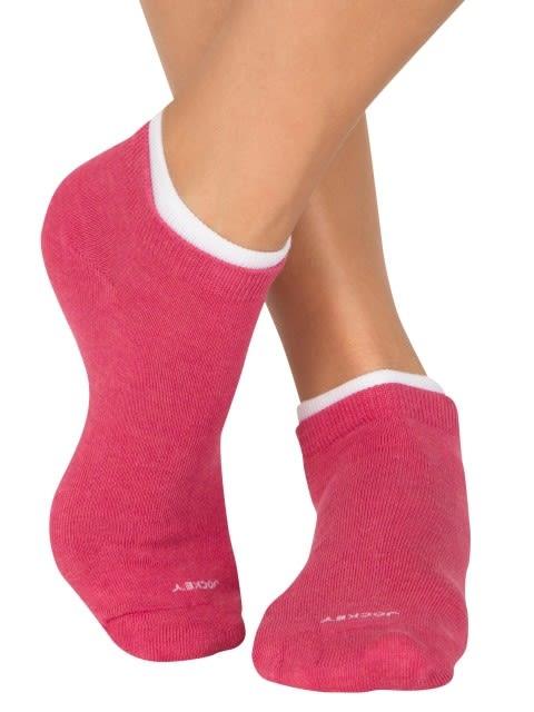 Raspberry Melange & Dark Iris Melange Women Low ankle socks Pack of 2