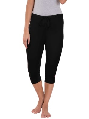Black & Ruby Knit Capri