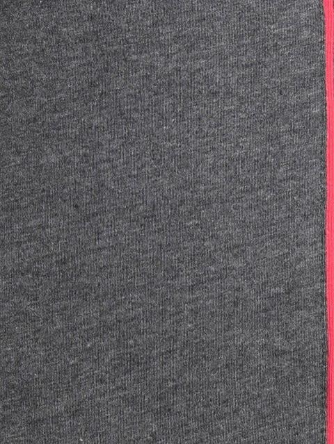 Charcoal Melange & Ruby Knit Capri