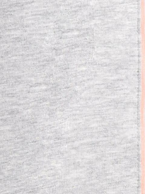 Light Grey Melange & Coral Knit Capri