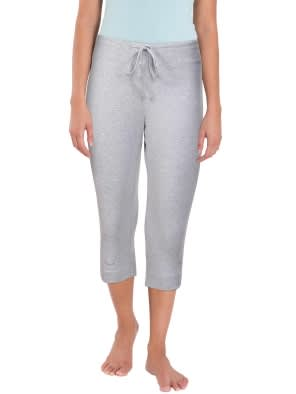 Light Grey Melange & Coral Knit Capri