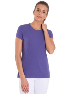 Cyber Grape Melange Round Neck T-Shirt