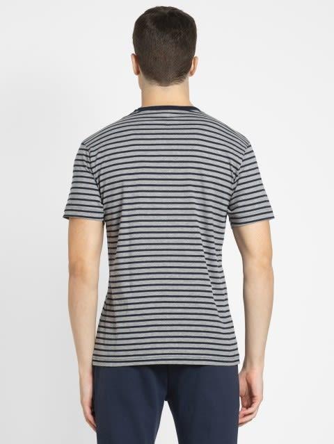 Navy & Grey Melange Crew neck T-shirt
