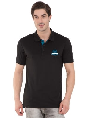 Black Sport Polo T-Shirt