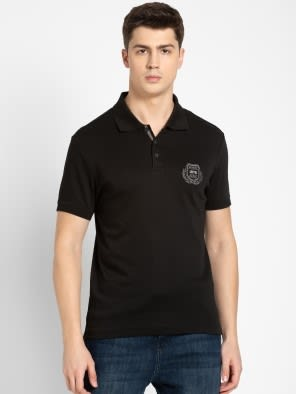 Black Sport Polo T-Shirt