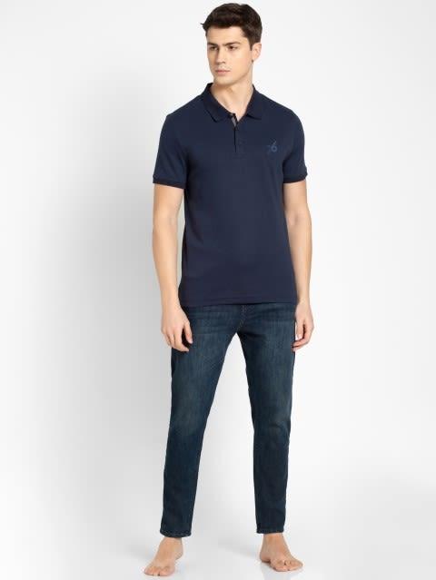Navy Sport Polo T-Shirt