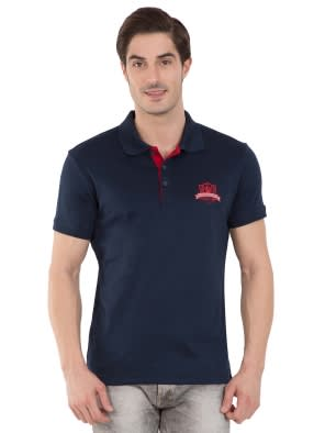 Navy Sport Polo T-Shirt