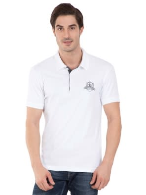 White Sport Polo T-Shirt