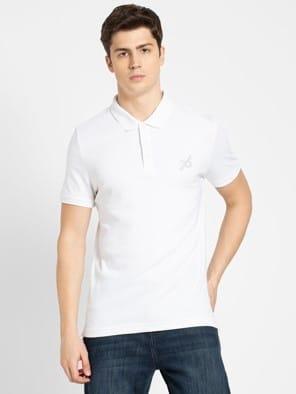 White Sport Polo T-Shirt