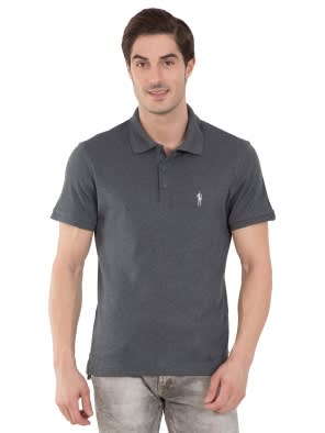 Charcoal Melange Polo T-Shirt