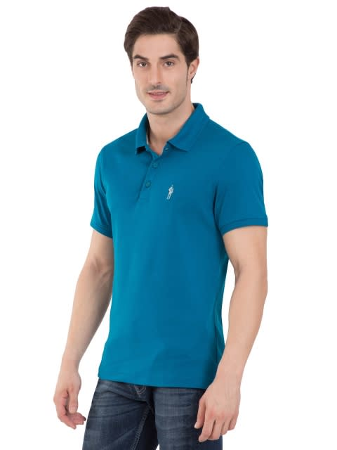 Teal Blue Polo T-Shirt