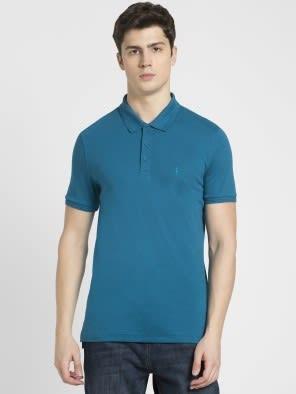 Teal Blue Polo T-Shirt