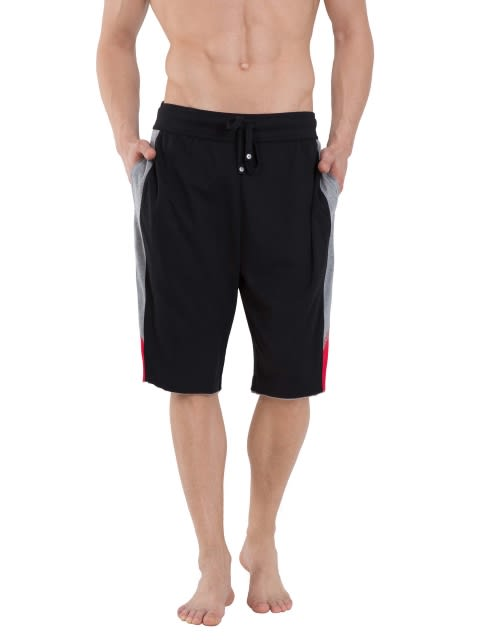 Black & Grey Melange Active Shorts