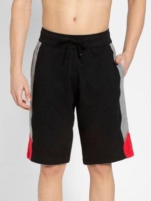 Black & Grey Melange Active Shorts