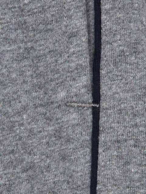 Grey Melange & Navy Track Pant